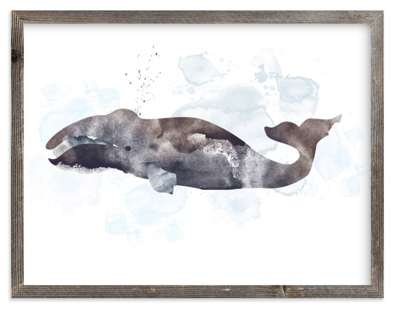 """""""Whale Series Four"""" - Art Print by Shirley Lin Schneider in beautiful frame options and a variety of sizes."""