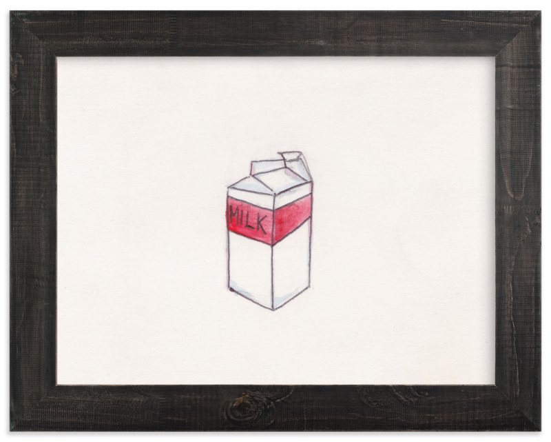 """""""milk was a bad choice"""" - Art Print by Lynne Lincoln in beautiful frame options and a variety of sizes."""