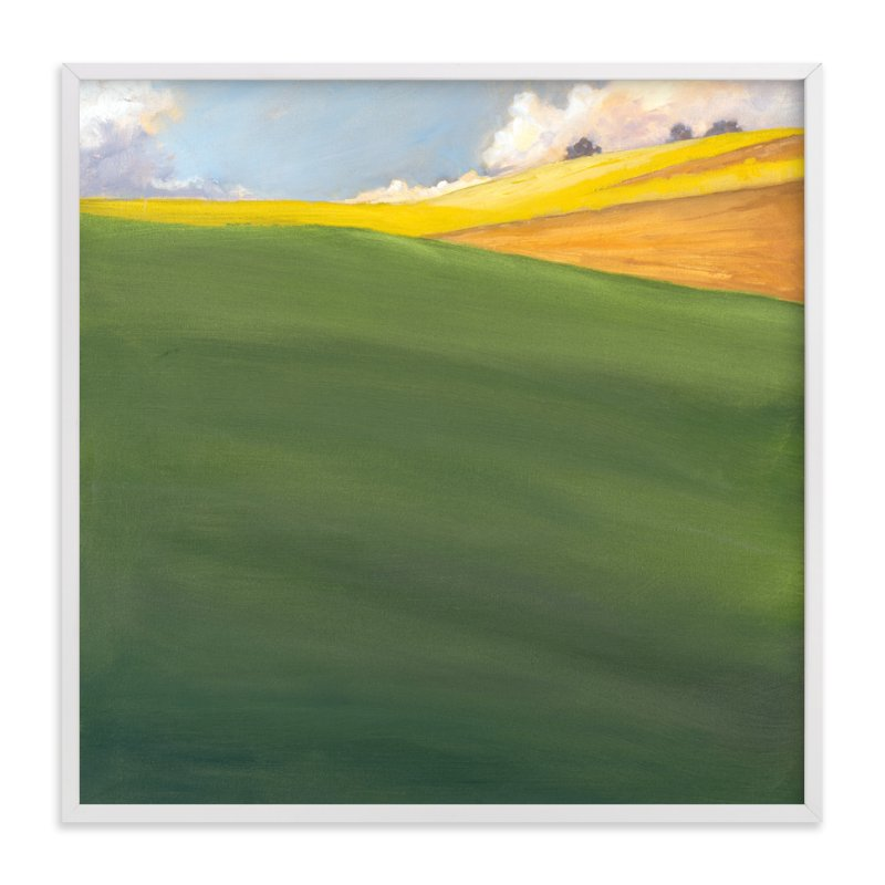 """""""September Hill"""" - Art Print by Stephanie Goos Johnson in beautiful frame options and a variety of sizes."""