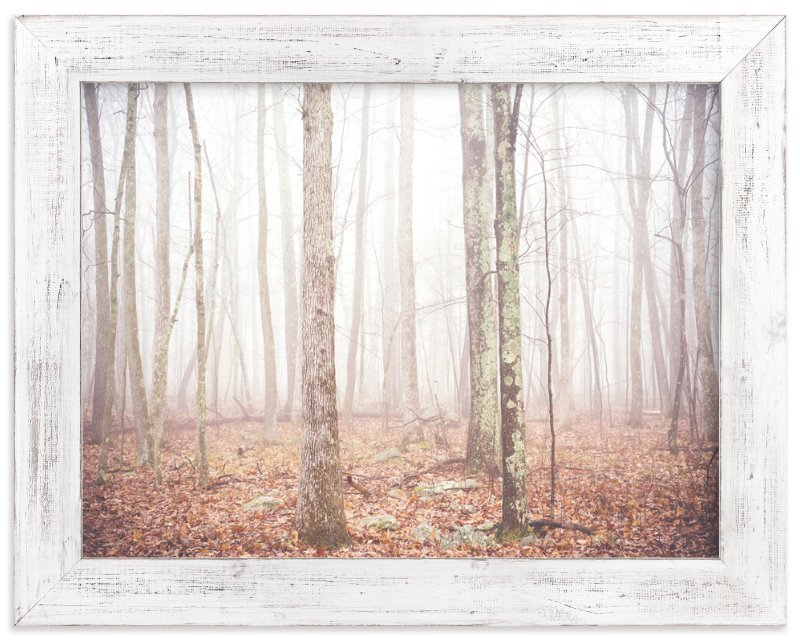 """Foggy Forest"" - Art Print by Smile Peace Love in beautiful frame options and a variety of sizes."