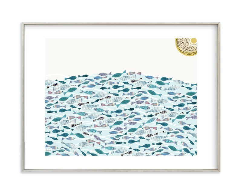 """""""Ocean Abundance"""" - Limited Edition Art Print by Bethania Lima in beautiful frame options and a variety of sizes."""