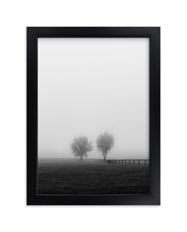 """""""Couple in the Fog"""" - Art Print by Gabrial Reising in beautiful frame options and a variety of sizes."""