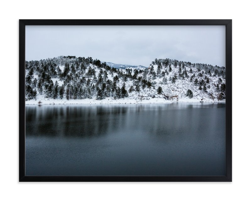 """""""Winter's Touch"""" - Art Print by Julie Blackwood in beautiful frame options and a variety of sizes."""