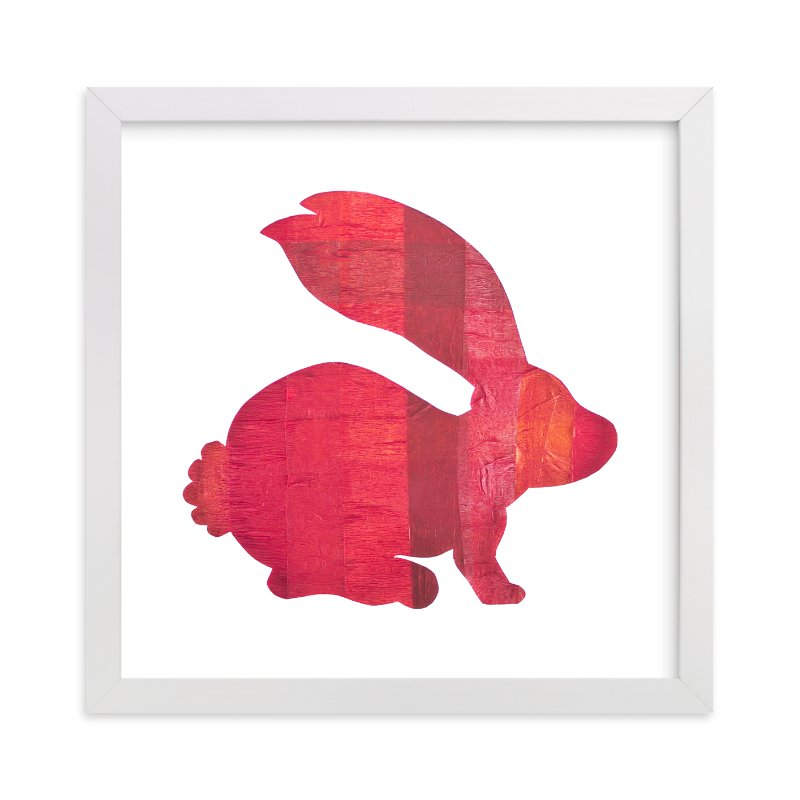 """""""Red Party Bunny"""" - Art Print by Jeff Preuss in beautiful frame options and a variety of sizes."""