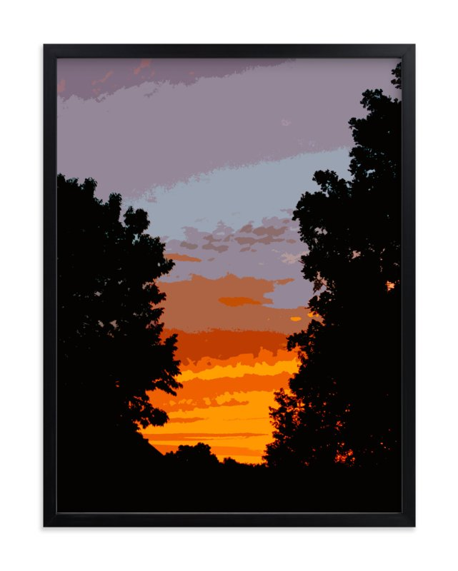 """Driveway Sunset"" - Art Print by Jeff Preuss in beautiful frame options and a variety of sizes."