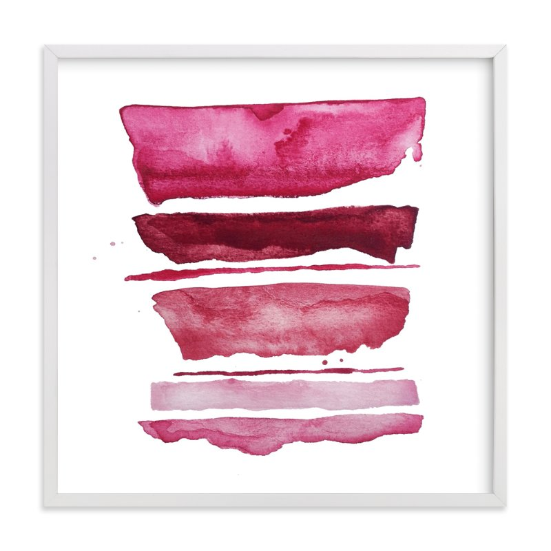 """of land and sea_ pink refraction"" - Art Print by Kiana Mosley in beautiful frame options and a variety of sizes."