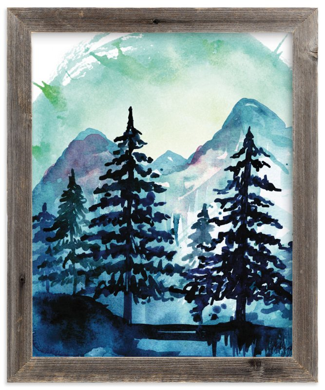 """""""Into the Woods"""" - Art Print by Kelsey McNatt in beautiful frame options and a variety of sizes."""