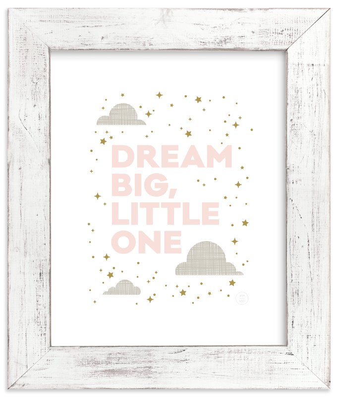 """""""Dream Big, Little One"""" - Art Print by Maddy Hague in beautiful frame options and a variety of sizes."""