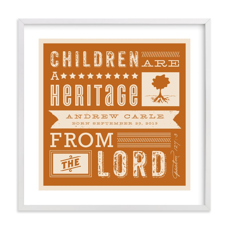 """Heritage Children"" - Nursery Custom Art Print by Lehan Veenker in beautiful frame options and a variety of sizes."