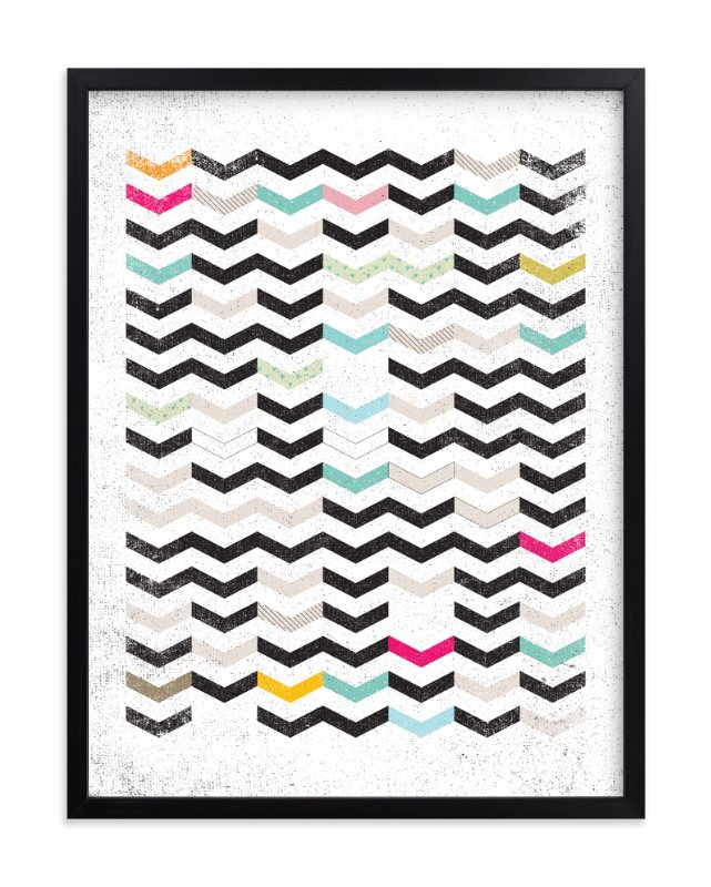 """DIRTY CHEVRON"" - Art Print by Matthew Taylor Wilson in beautiful frame options and a variety of sizes."