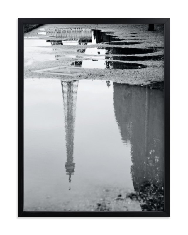 """""""Eiffel Tower in the Rain"""" - Art Print by Julie Wan in beautiful frame options and a variety of sizes."""