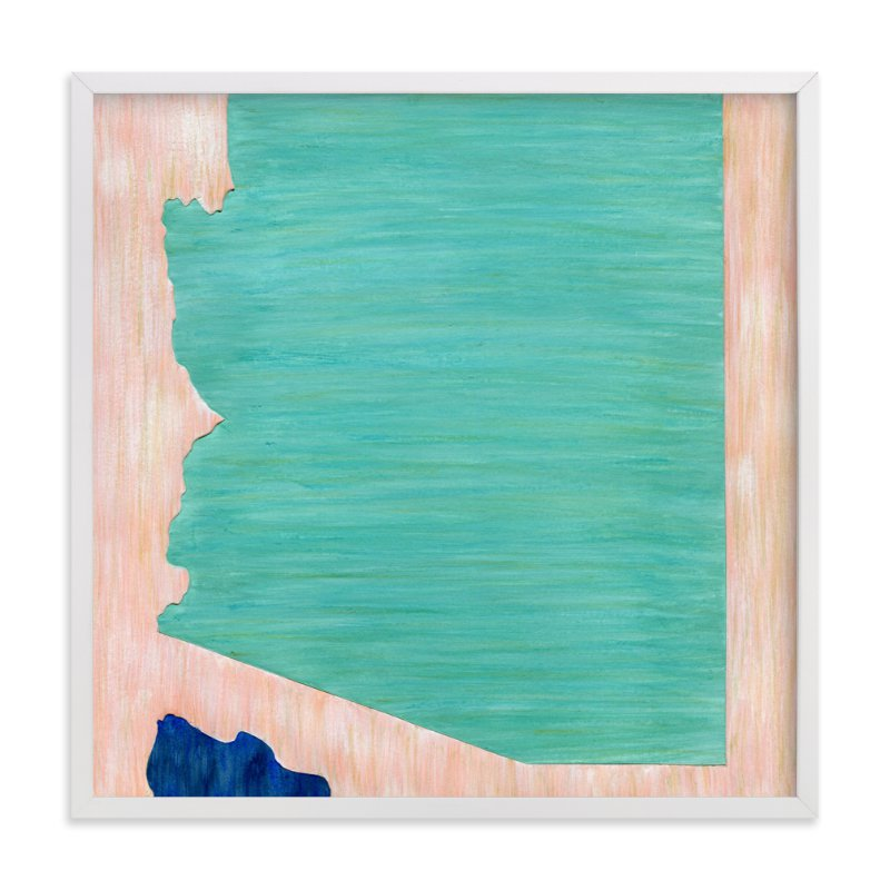 """Arizona in Paint"" - Art Print by Denise Wong in beautiful frame options and a variety of sizes."