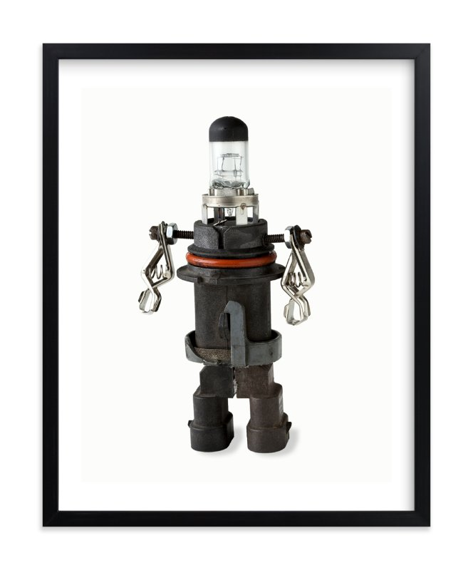 """Robot 1"" - Limited Edition Art Print by russell stephanchick in beautiful frame options and a variety of sizes."