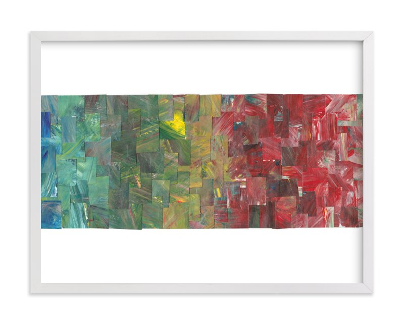 """Color Cascade"" - Art Print by Josh McClendon in beautiful frame options and a variety of sizes."