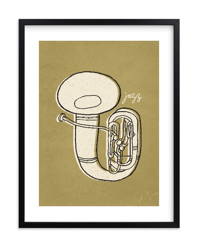 """Jazz Duet #2"" - Limited Edition Art Print by Moglea in beautiful frame options and a variety of sizes."