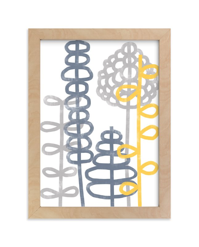 """""""Gray Garden"""" - Art Print by studio aliQue in beautiful frame options and a variety of sizes."""