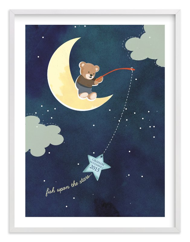 """""""Fish Upon A Star"""" - Nursery Custom Art Print by Britt Clendenen in beautiful frame options and a variety of sizes."""