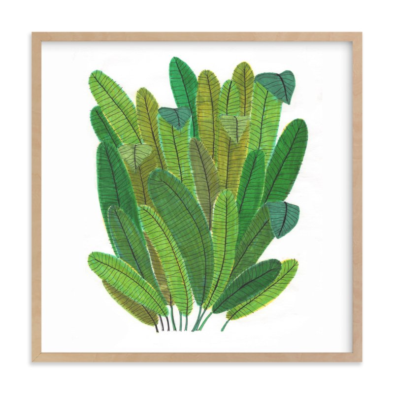 """""""Green Leaf Bouquet"""" - Art Print by Madeline Trait in beautiful frame options and a variety of sizes."""