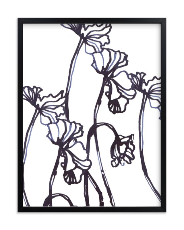 """Ink Cyclamen"" - Limited Edition Art Print by Sonal Nathwani in beautiful frame options and a variety of sizes."