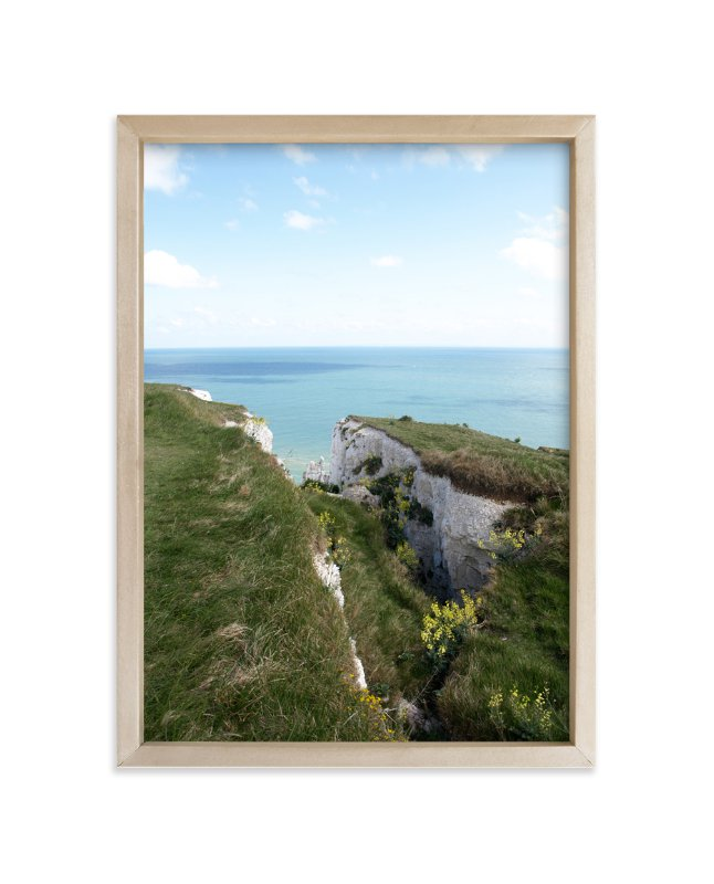 """White Cliffs"" - Art Print by Krissy Bengtson in beautiful frame options and a variety of sizes."
