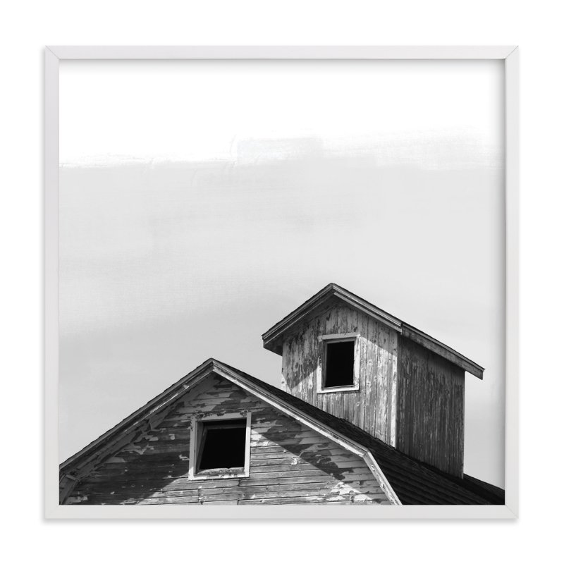 """Salvage - Barn Series 3"" - Art Print by That Girl Studio in beautiful frame options and a variety of sizes."