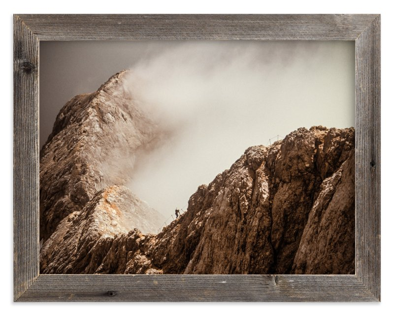 """Man and a Mountain"" - Art Print by Uros Zagozen in beautiful frame options and a variety of sizes."