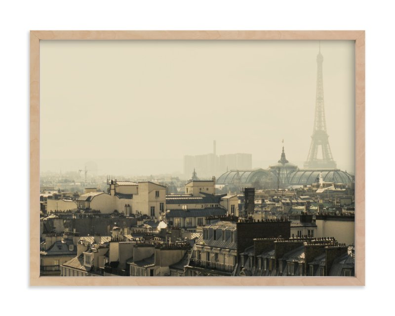 """Paris Is Always a Good Idea"" - Art Print by Alexandra Nazari in beautiful frame options and a variety of sizes."
