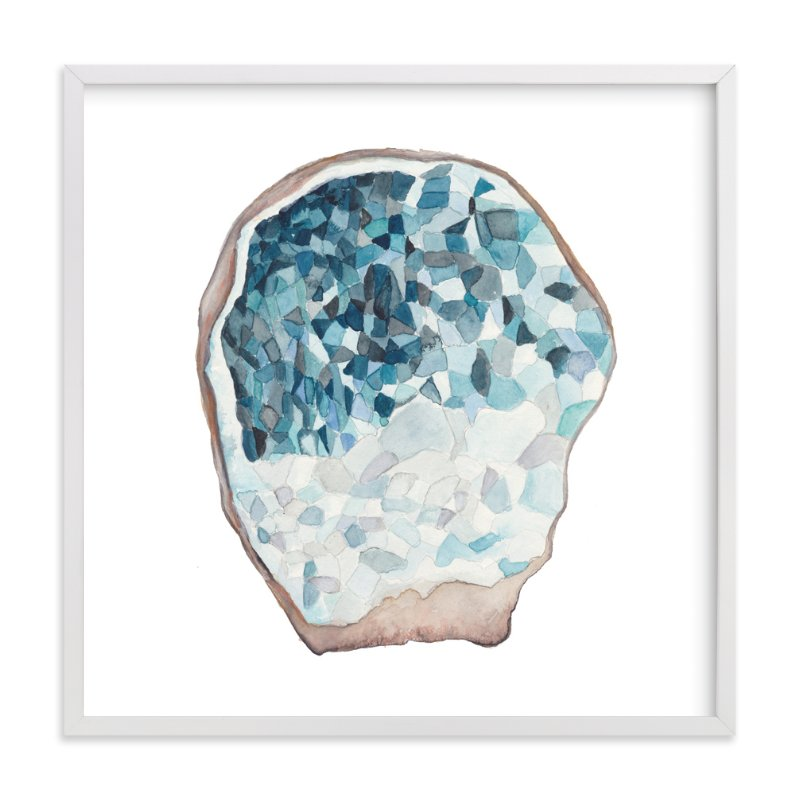 """Crystalized Geode"" - Art Print by Kaydi Bishop in beautiful frame options and a variety of sizes."