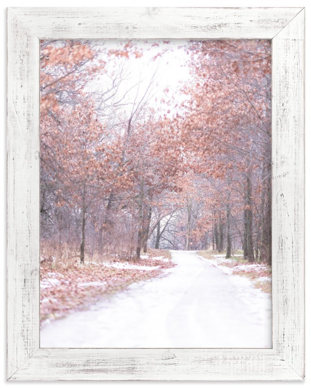 """Walk with Winter"" - Art Print by Kamala Nahas in beautiful frame options and a variety of sizes."