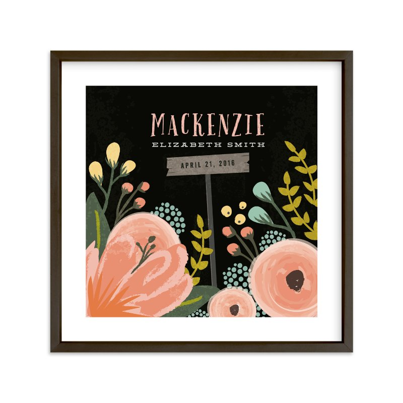 """""""Night Time Garden"""" - Children's Custom Art Print by Karidy Walker in beautiful frame options and a variety of sizes."""