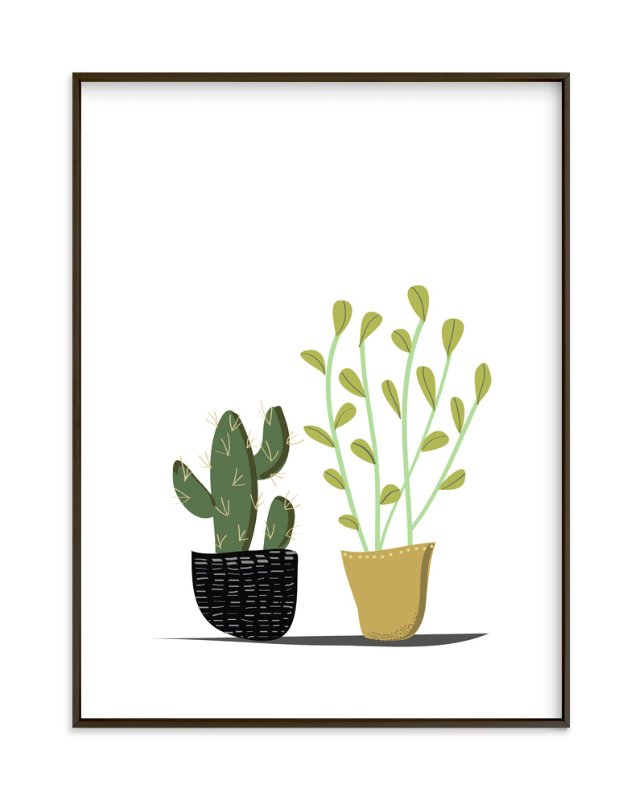 """""""POTTED"""" - Art Print by Rushmi in beautiful frame options and a variety of sizes."""