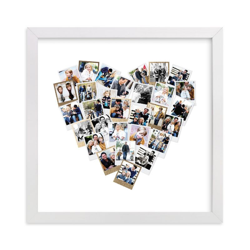 """""""Heart Snapshot Mix®"""" - Foil Pressed Photo Art Print by Minted in beautiful frame options and a variety of sizes."""