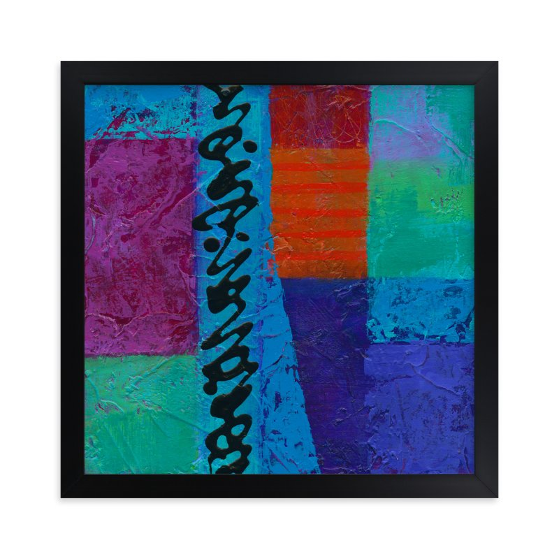 """""""Color Block II"""" - Art Print by Laura Bolter Design in beautiful frame options and a variety of sizes."""
