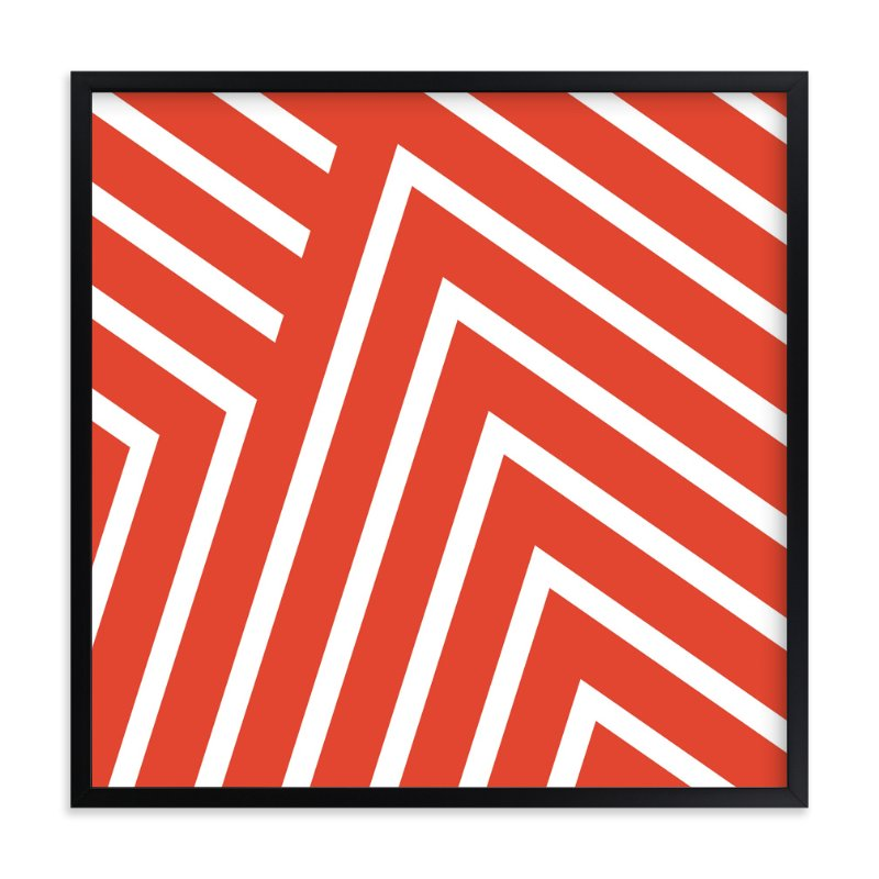 """Chevy Chevron"" - Art Print by SimpleTe Design in beautiful frame options and a variety of sizes."