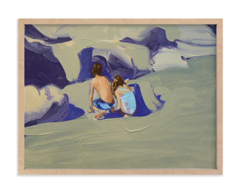 """""""Zachary and Violet Oxnard II"""" - Art Print by Annie Seaton in beautiful frame options and a variety of sizes."""