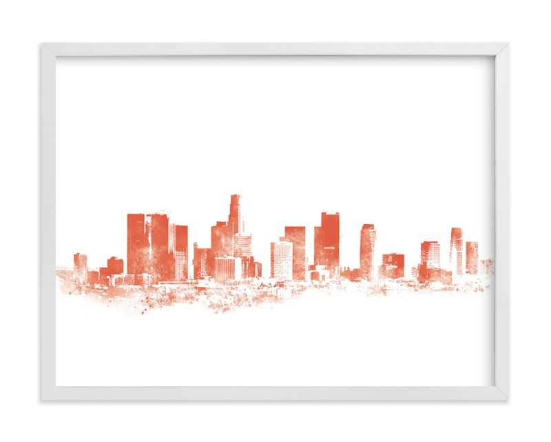 """""""LA Skyline"""" - Art Print by Paul Berthelot in beautiful frame options and a variety of sizes."""