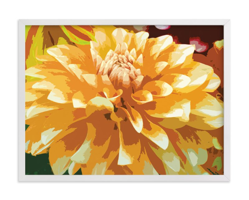 """""""Color My Dahlia"""" - Art Print by Mazing Designs in beautiful frame options and a variety of sizes."""