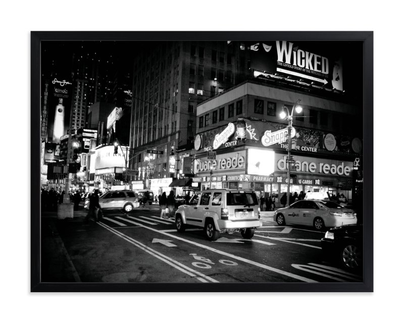 """Night in New York"" - Art Print by Hendro Lim in beautiful frame options and a variety of sizes."