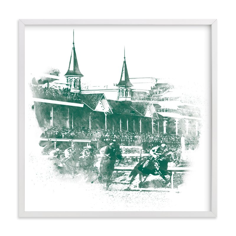 """""""Churchill Downs"""" - Art Print by Paul Berthelot in beautiful frame options and a variety of sizes."""