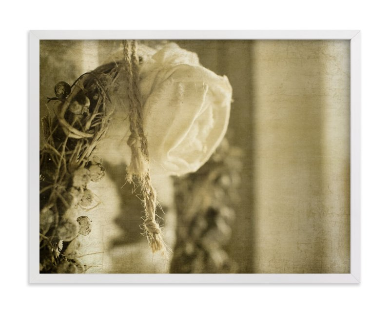 """""""Vintage Rose Wreath"""" - Art Print by Heather Squance in beautiful frame options and a variety of sizes."""