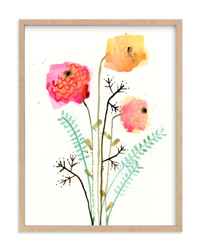 """Flora Fantasy"" - Art Print by Lindsay Megahed in beautiful frame options and a variety of sizes."