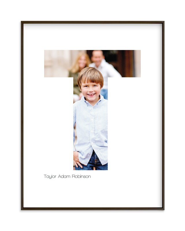 """T - Within Letters of You"" - Children's Custom Photo Art Print by Heather Francisco in beautiful frame options and a variety of sizes."