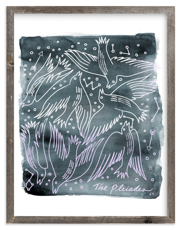"""The Pleiades"" - Art Print by Eve Schultz in beautiful frame options and a variety of sizes."