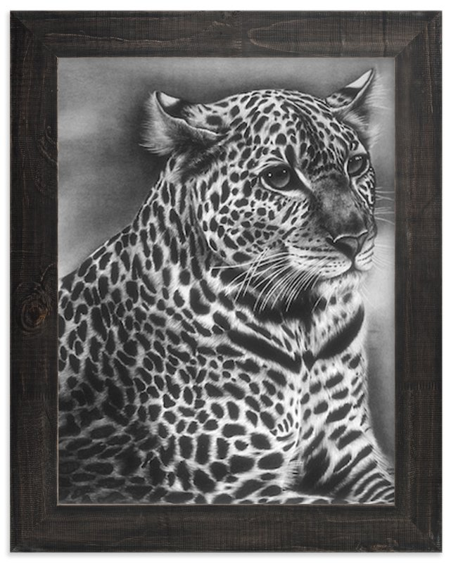 """""""Furry Leopard"""" - Art Print by Jerry Winick in beautiful frame options and a variety of sizes."""