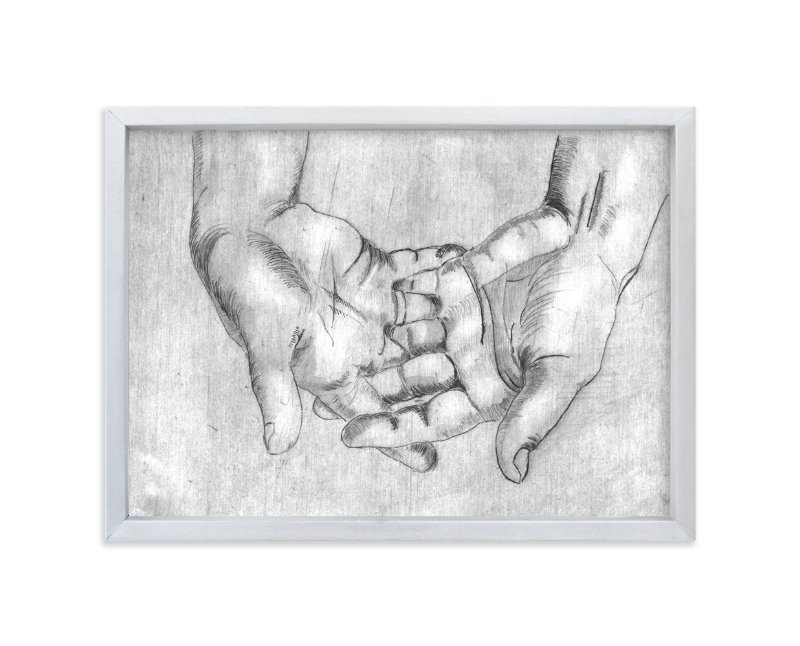 """Gesture - Open Hands"" - Limited Edition Art Print by Alaine Ball in beautiful frame options and a variety of sizes."