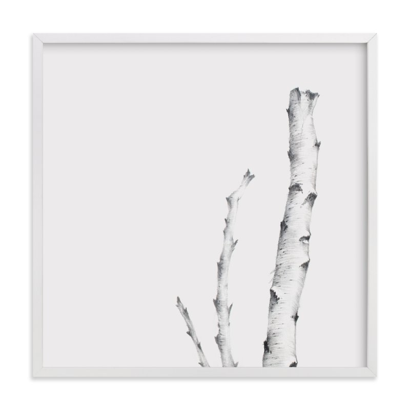 """""""BIRCH"""" - Art Print by jinseikou in beautiful frame options and a variety of sizes."""