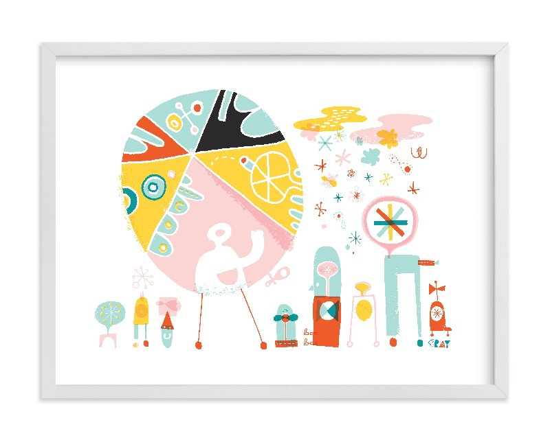 """Globetrotters"" - Limited Edition Art Print by ERAY in beautiful frame options and a variety of sizes."