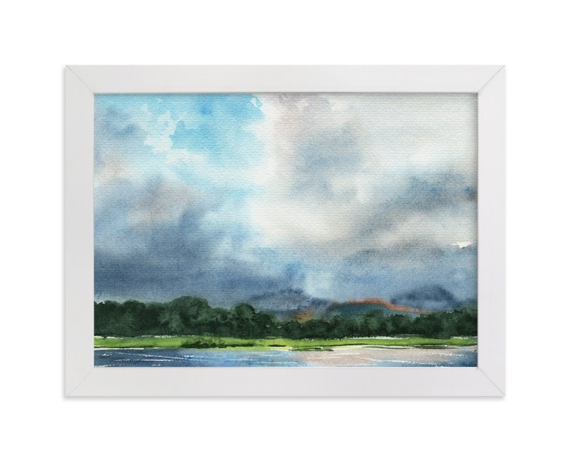 """""""Cloud Symphony Ring of Beara"""" - Art Print by Eva Marion in beautiful frame options and a variety of sizes."""