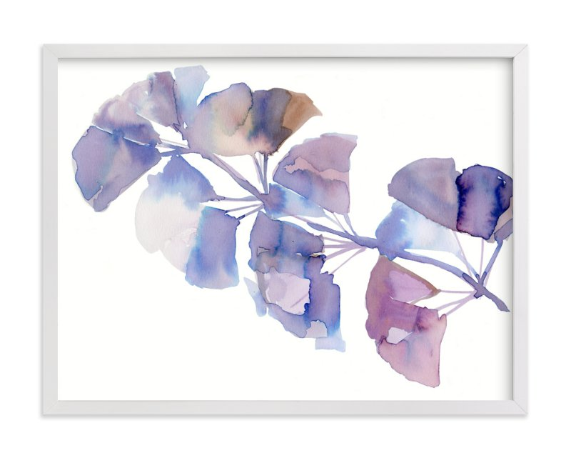 """SOFTLY GINKGO"" - Art Print by Me Amelia in beautiful frame options and a variety of sizes."