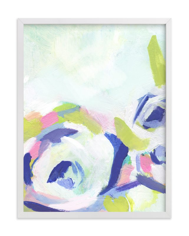 """Gardenia Abstracted"" - Art Print by Makewells in beautiful frame options and a variety of sizes."
